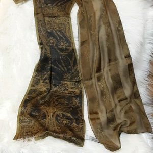 Anne Klein Silk matching scarves